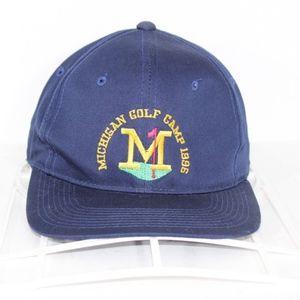 Vintage 1996 Michigan Wolverines Golf Camp Hat